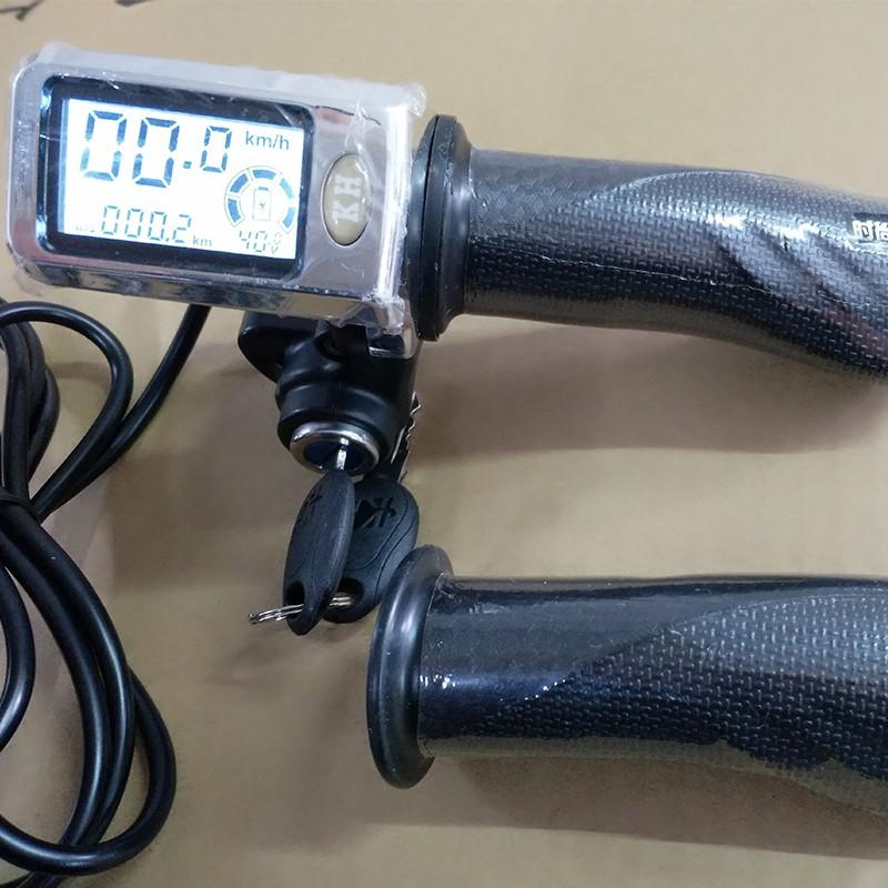 電動車 液晶調速把 轉把帶電量儀錶 電動自行車改裝配件 油門把手