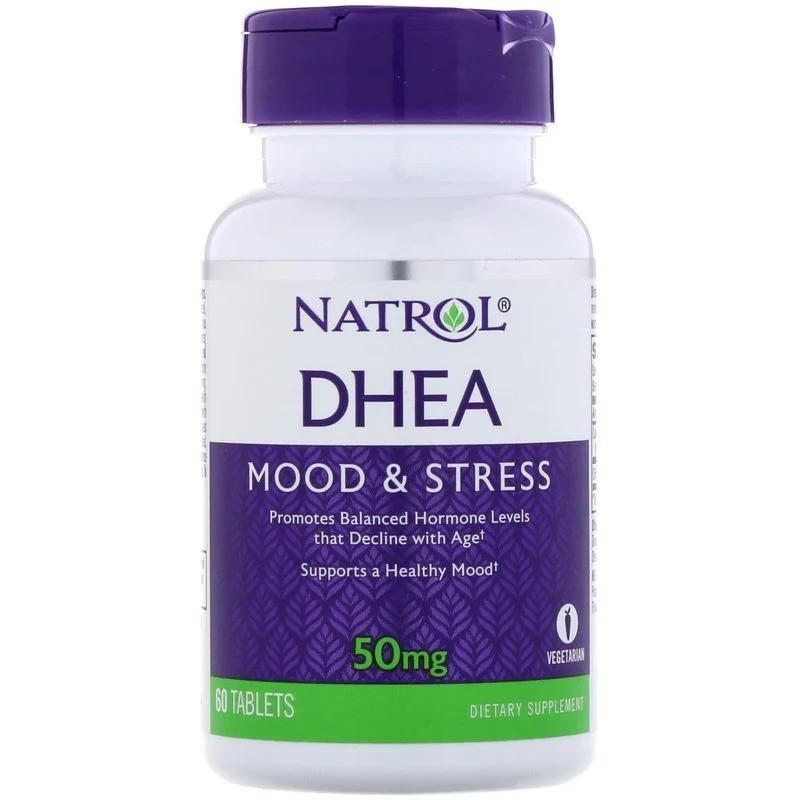 DHEA 50mg 脫氫表雄酮 60粒 更年期 青春素 Natrol #NTL-16106