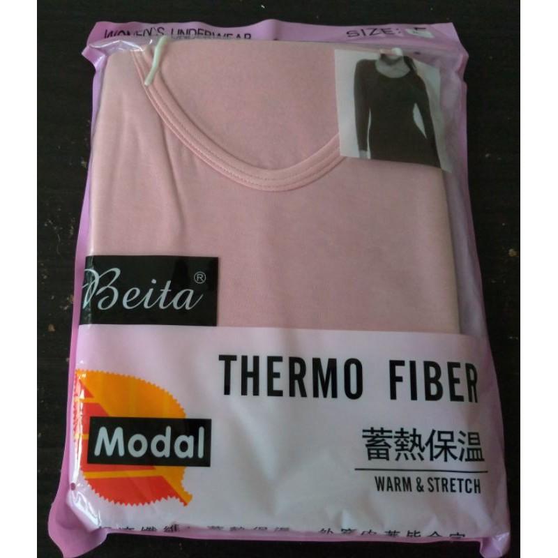 全新Beita女性蓄熱保暖衣衛生衣/圓領
