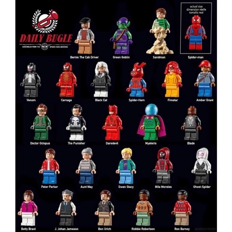 LEGO 76178 樂高 蜘蛛人 號角日報 拆賣25隻人偶