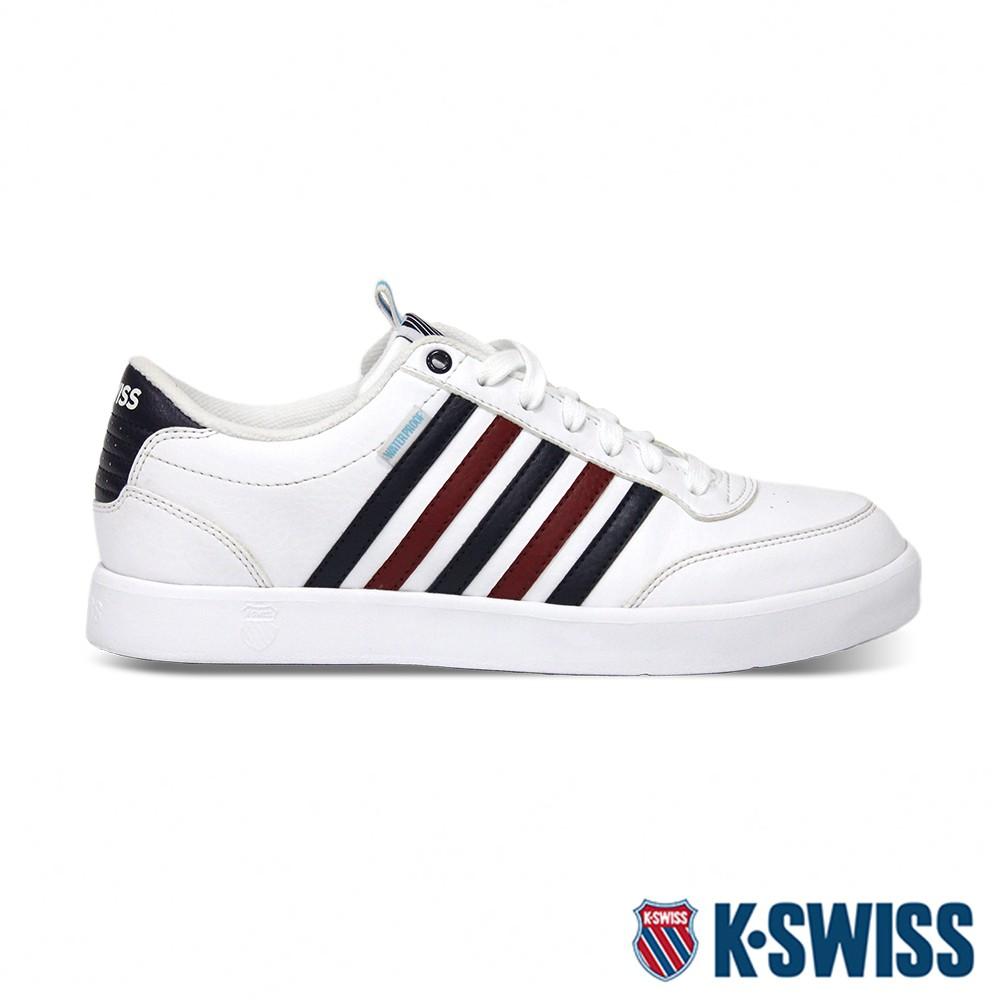 K-SWISS Court Lite CMF WP輕量防水鞋-男-白/藍/紅