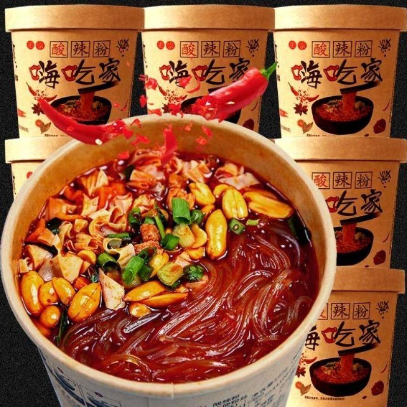 ✨嗨吃家桶裝酸辣粉絲112克 ✨正宗重慶紅薯粉絲米線方便面粉絲