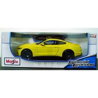 *玩具部落*超跑 跑車 骨董車 模型車 1/ 18 Maisto 2015 福特 野馬 GT 黃 特價851元 新北市