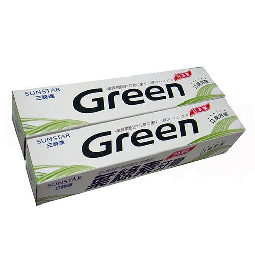三詩達葉綠素牙膏160g X2入【愛買】
