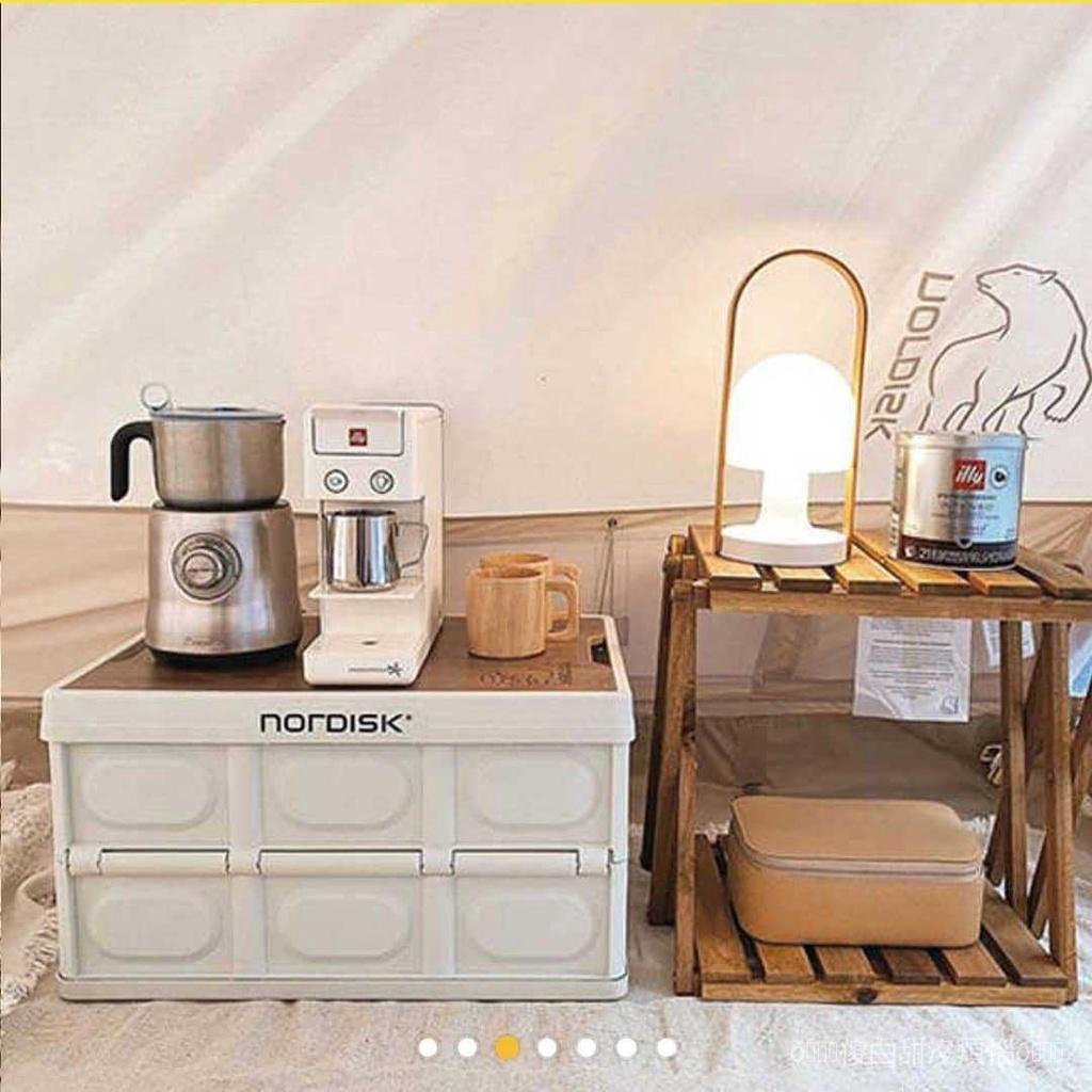 【現貨 批發】Nordisk大白熊Dunkin聯名戶外露營日式折疊塑料車載收納箱整理箱