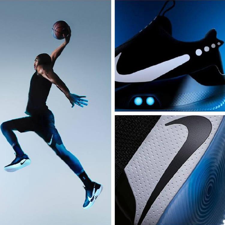 【現貨】Nike 耐吉 ADAPT BB BLACK 綁鞋帶 男子籃球鞋 運動鞋 跑步鞋 戶外登山鞋AO2582 001