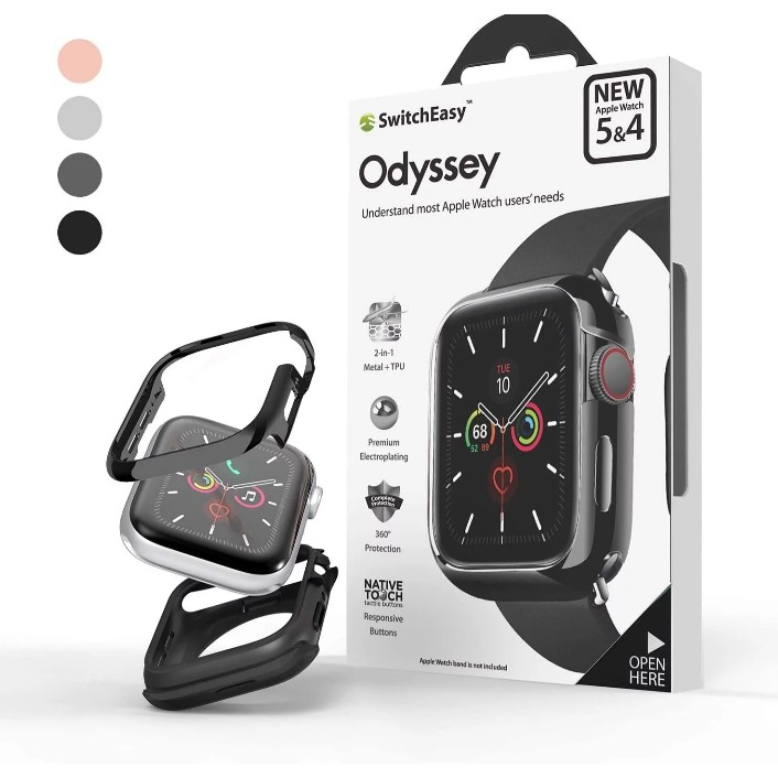 Switcheasy Odyssey Apple Watch 金屬手錶保護殼(S6/SE/S5/S4 40/44mm適用