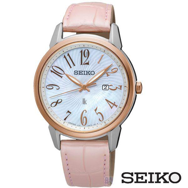 SEIKO 精工 太陽能 SUT300J1 氣質腕錶 V137-0CG0K 禮物