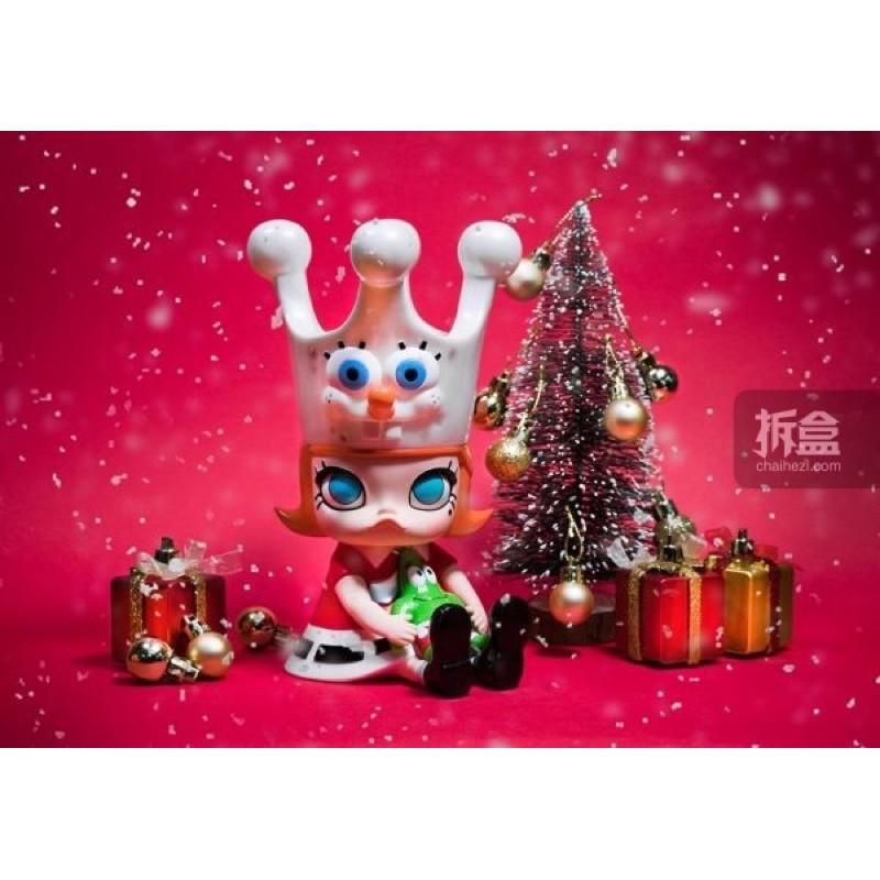 STS玩具展泡泡瑪特限定UNBOX海綿寶寶molly金冠