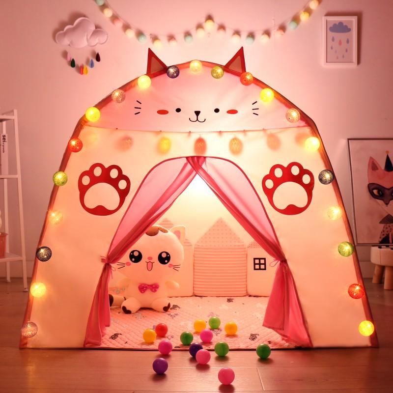 現貨下殺兒童帳篷室內公主小女孩城堡寶寶分床神器家用睡覺游戲屋秘密基地