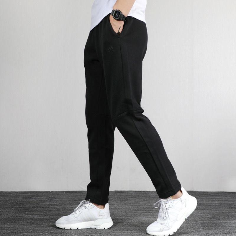 Adidas阿迪達斯男褲子2020秋季運動褲透氣寬鬆休閒跑步長褲EH3752