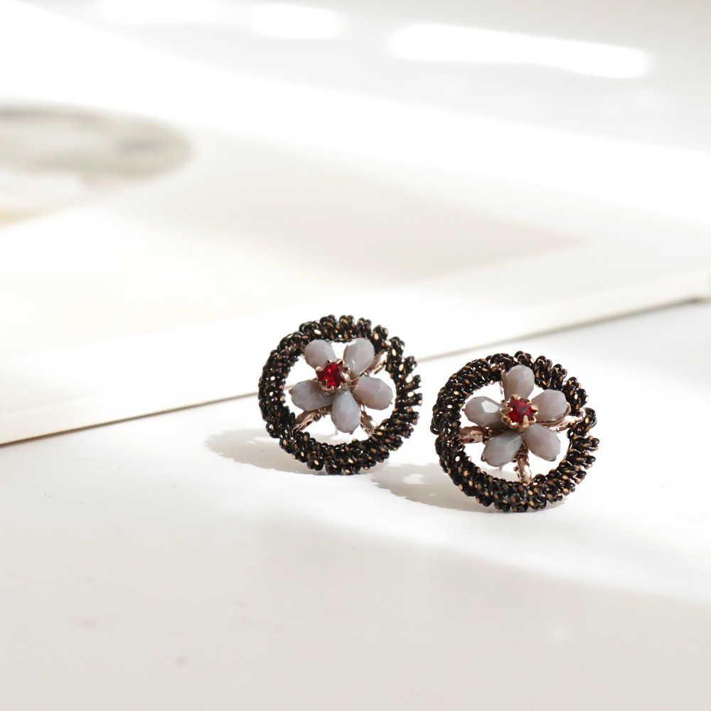韓國 晨曦。鋼針手工耳環