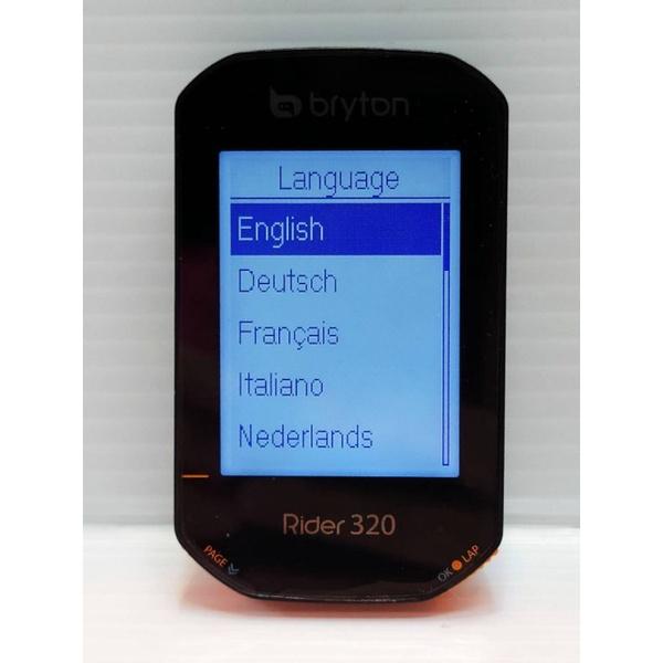 Bryton Rider 320E 單碼錶 單碼表 無固定座 無充電線 無任何配件 有保固的碼錶 原廠公司貨