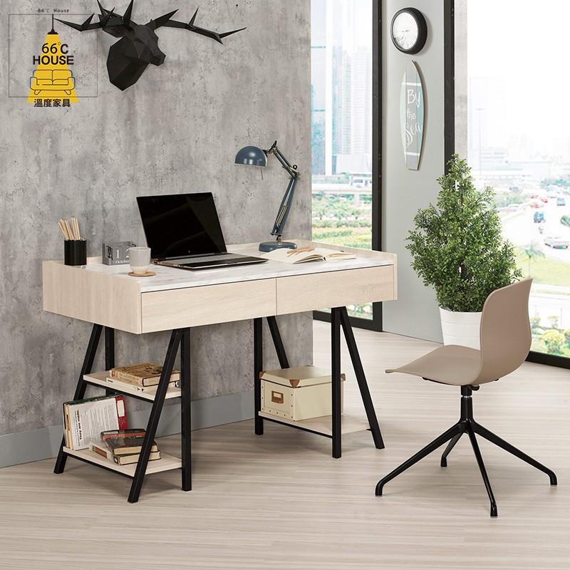 【溫度家具】工業系列 丹妮拉4尺置物書桌