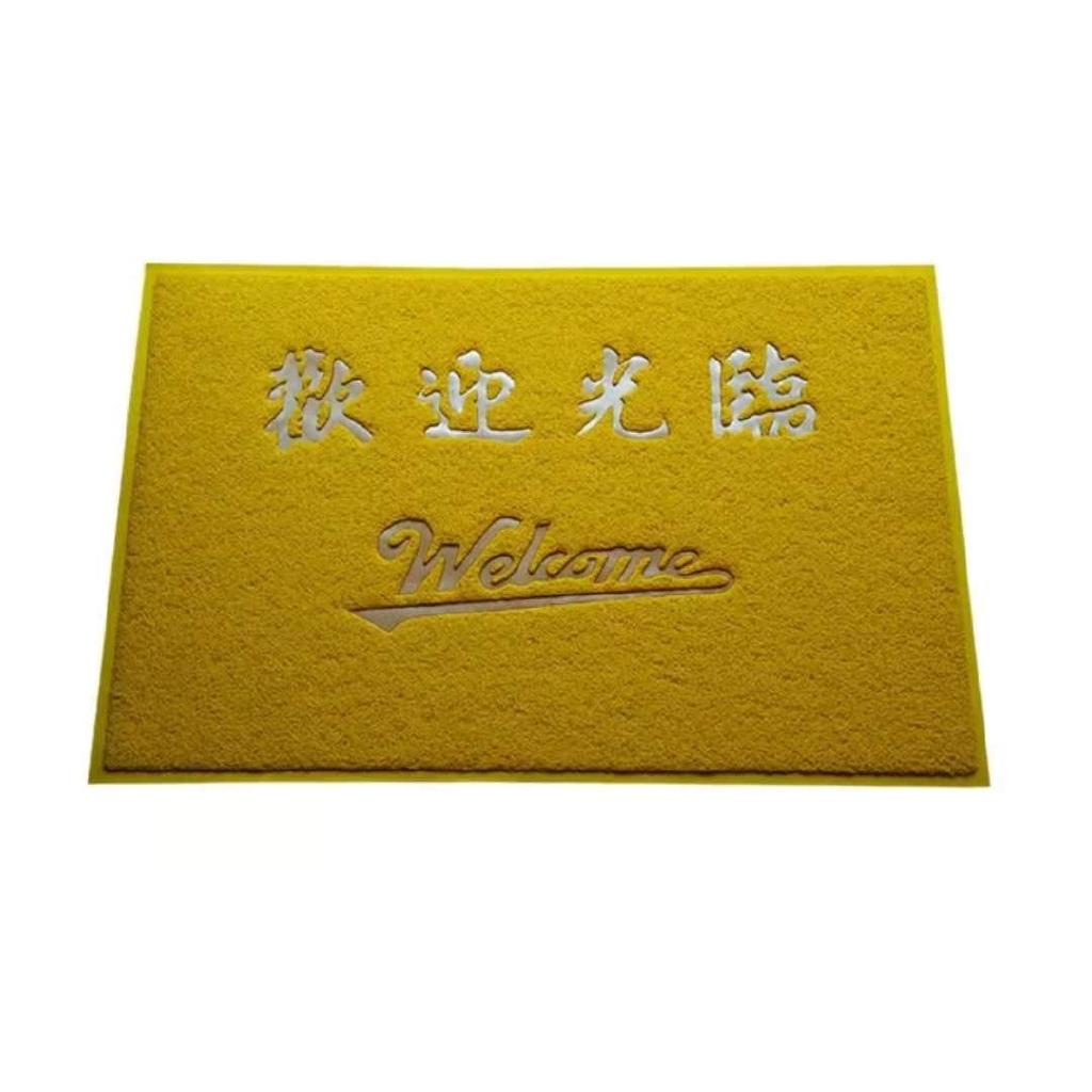 現貨金黃色地墊風水地毯平安進門口除塵墊絲圈歡迎門墊防滑腳墊3A定制