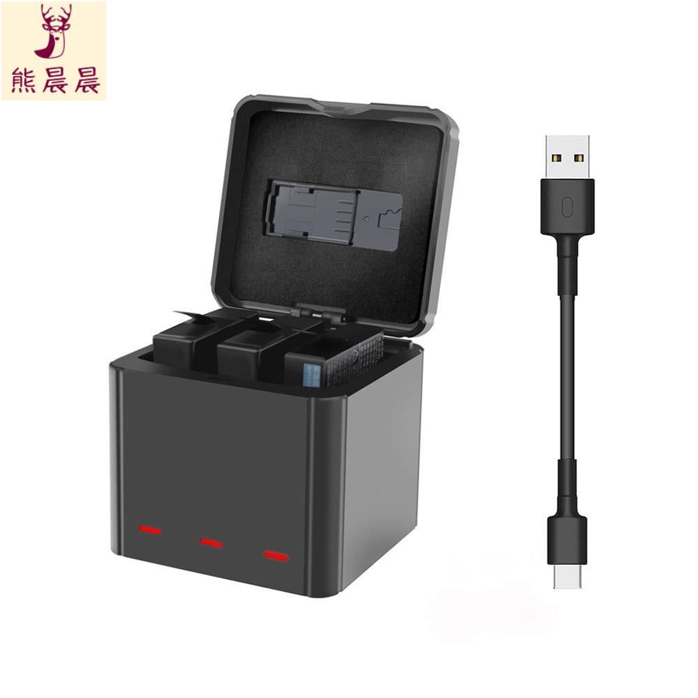 【高品質】Insta360 One X運動相機配件鋰電池充電器三電收納式充電盒