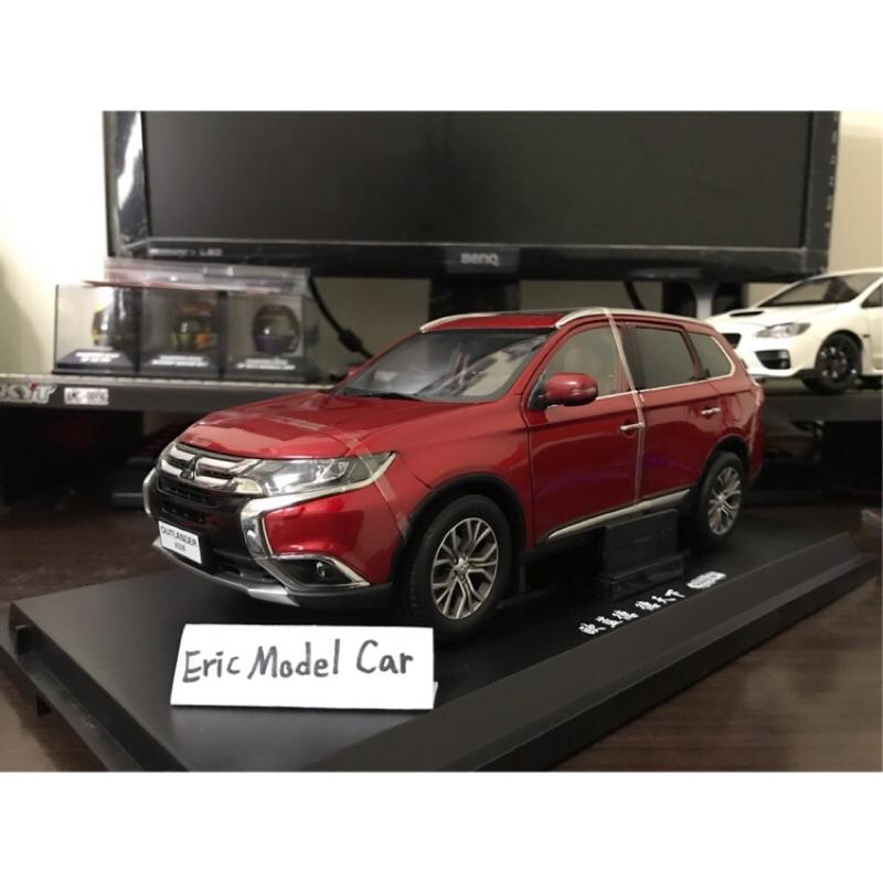【E.M.C】1:18 1/18 原廠 三菱 Mitsubishi Outlander 金屬模型車