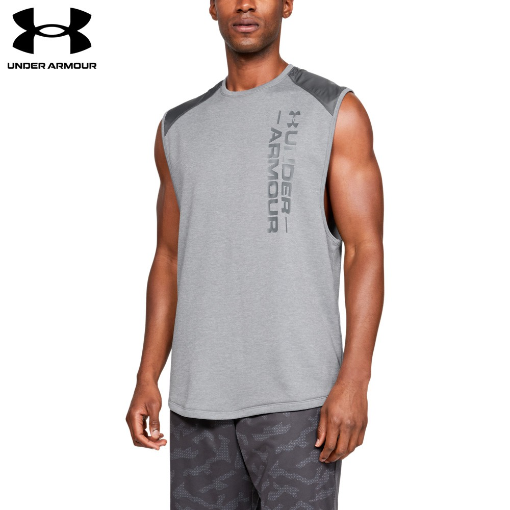 【UNDER ARMOUR】男 MK1 Terry排汗快乾背心(1327403-011,Loose)