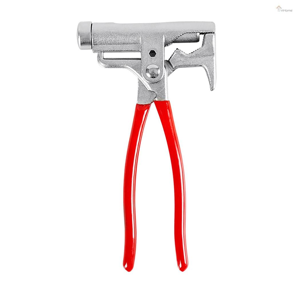 YiHome 10合一萬能錘便攜多功能一體萬用工具:木工錘+螺絲刀+拔釘器+定釘鉗+扳手+管鉗+鋼絲鉗+捲邊+打眼