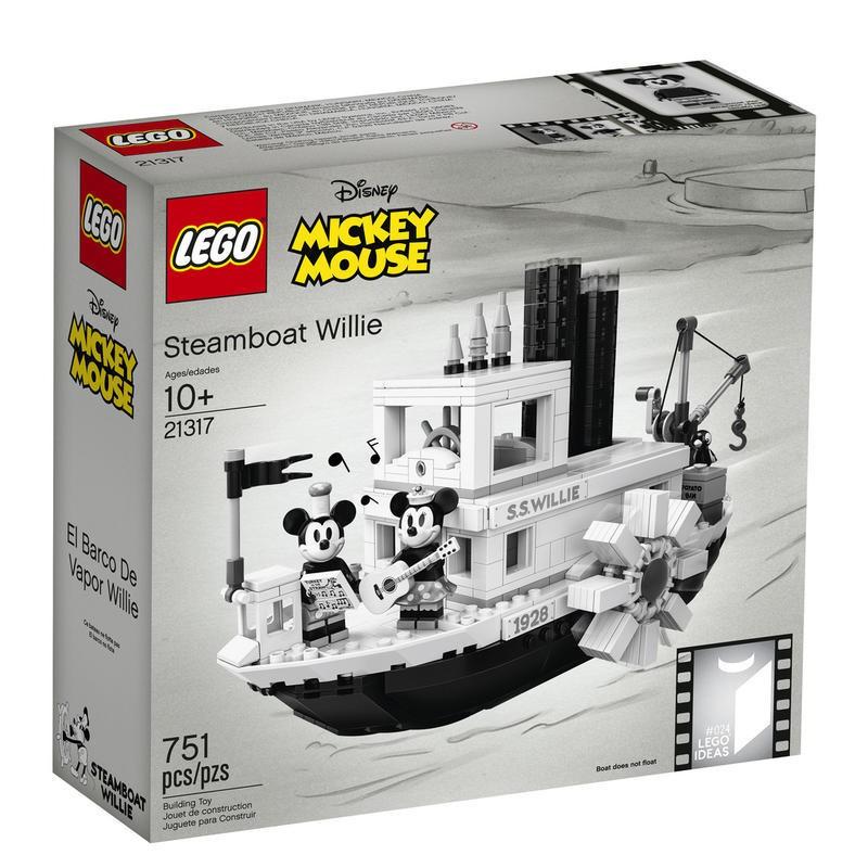 全新 #24印刷版 LEGO 樂高 IDEAS 21317 汽船威利號 Steamboat Willie