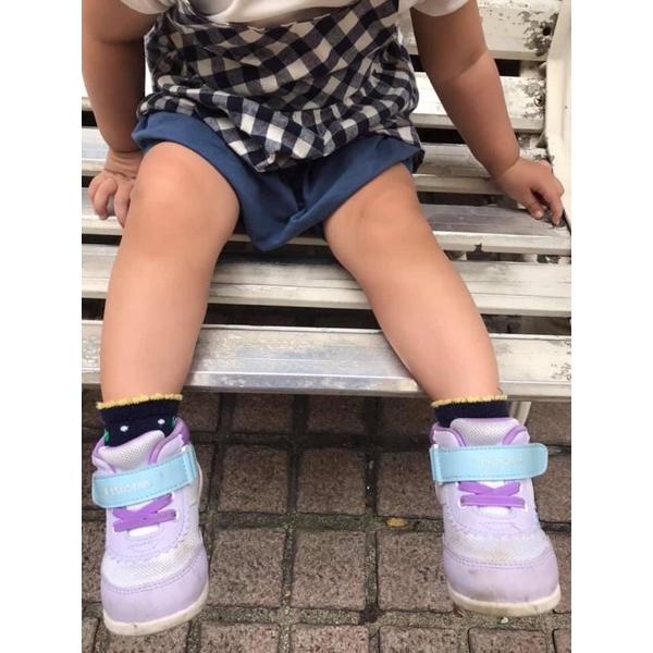 二手 恩典 月星 童鞋 Moonstar機能鞋 高筒 HI系列球鞋 學步鞋 星星鞋 紫 13.5cm