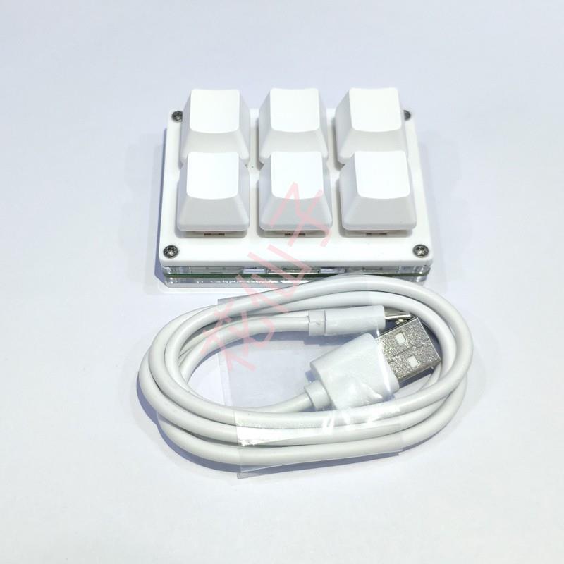 【台灣現貨】【超好用】6鍵小鍵盤迷你OSU游戲鍵盤復制粘貼自定義快捷鍵一鍵密碼機械電腦