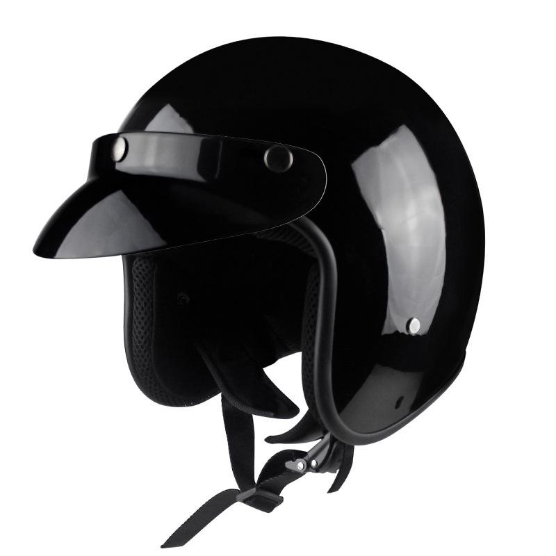 頭盔 機車頭盔 摩托車頭盔  VOSS電動摩托車哈雷頭盔 復古頭盔 復古盔男電動安全帽復古頭盔