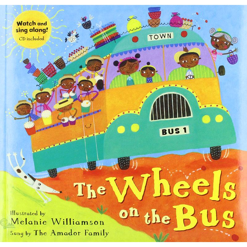 The Wheels on the Bus (1平裝+1影音CD)【禮筑外文書店】(有聲書)[75折]