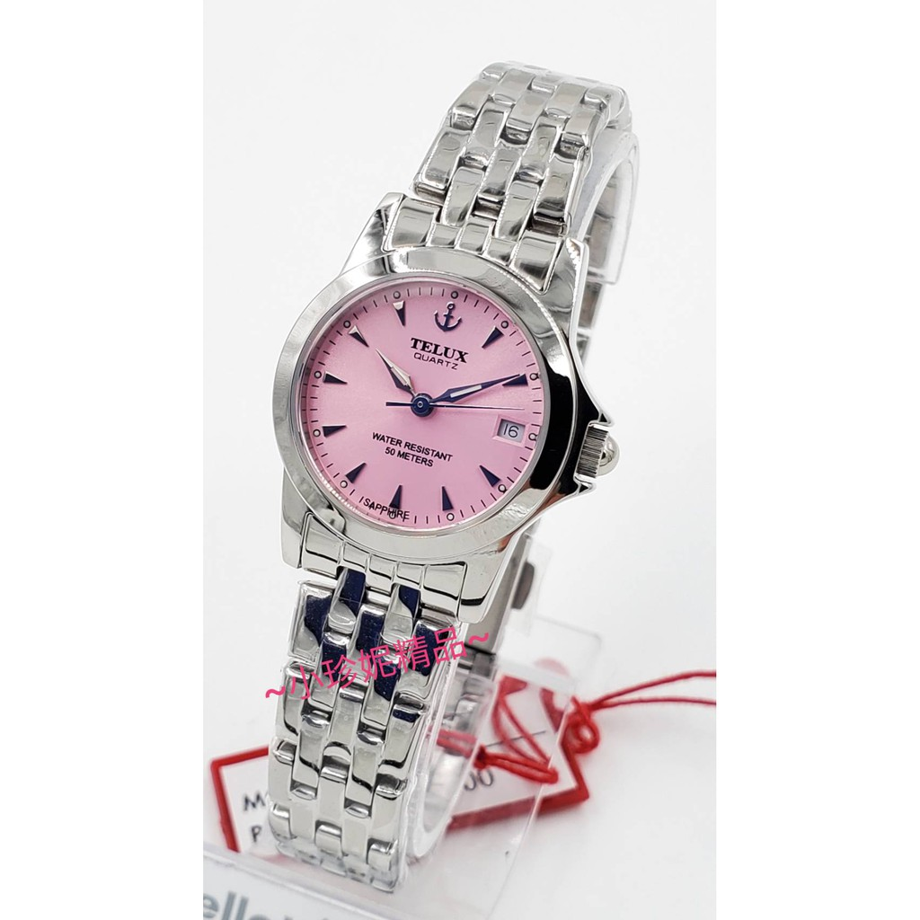 ~小珍妮精品~日本品牌 TELUX 鐵力士 原裝公司貨 水晶玻璃 石英錶 日期顯示