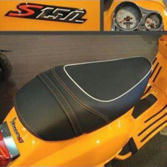 vespa S 美規橘色縫線單座椅(稀有極新品)