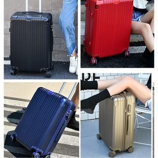 高級 防刮拉絲款 20寸/ 29吋 行李箱  海關鎖 開學季 鋁框旅行箱 登機箱 學生旅行 拉鏈 加固鋁合金 韓版 出國