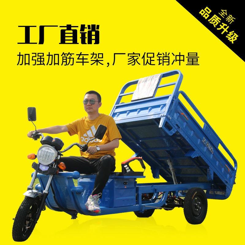 【廠家直銷】電動三輪車成人貨車載貨王多人農用車電瓶接送孩子拉貨農用立德發
