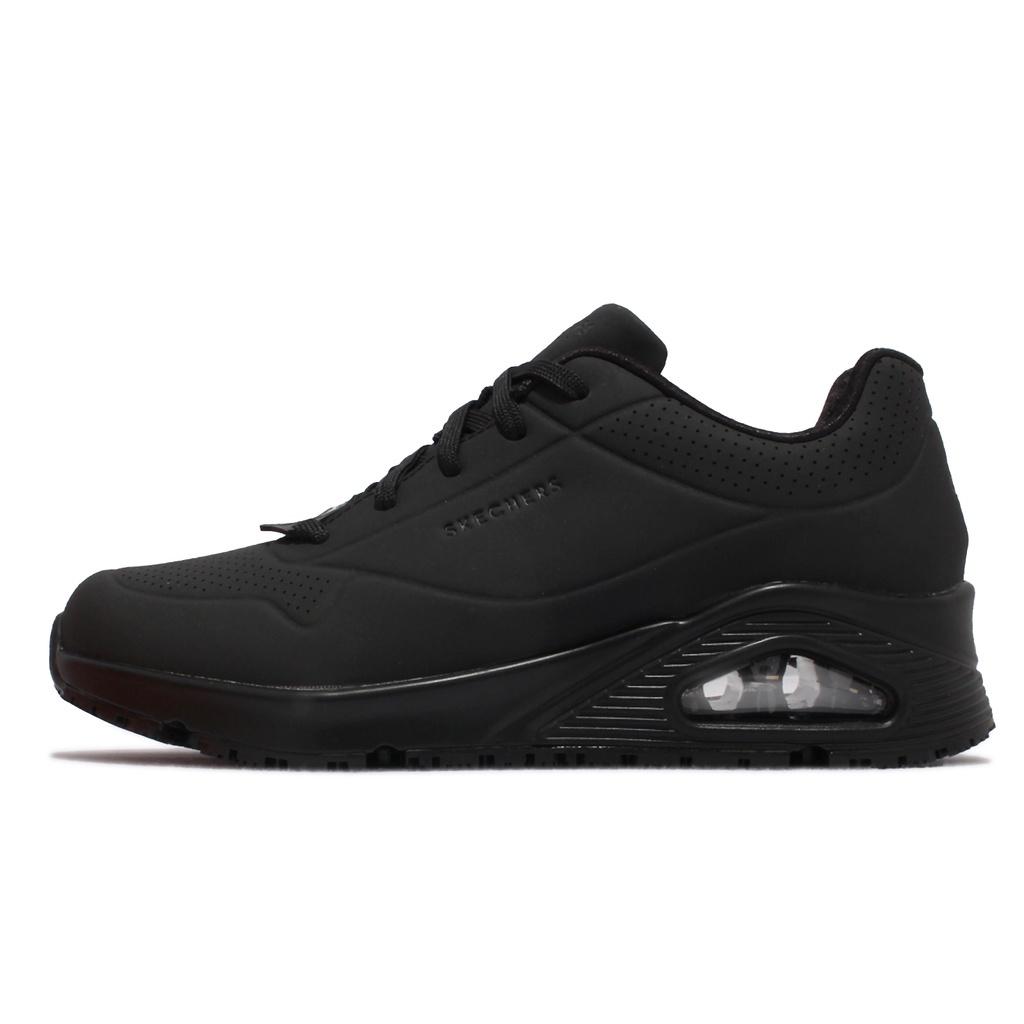 Skechers 工作鞋 Uno SR 女鞋 全黑 防滑 防觸電 餐飲 廚師 休閒鞋 【ACS】 108021-BLK