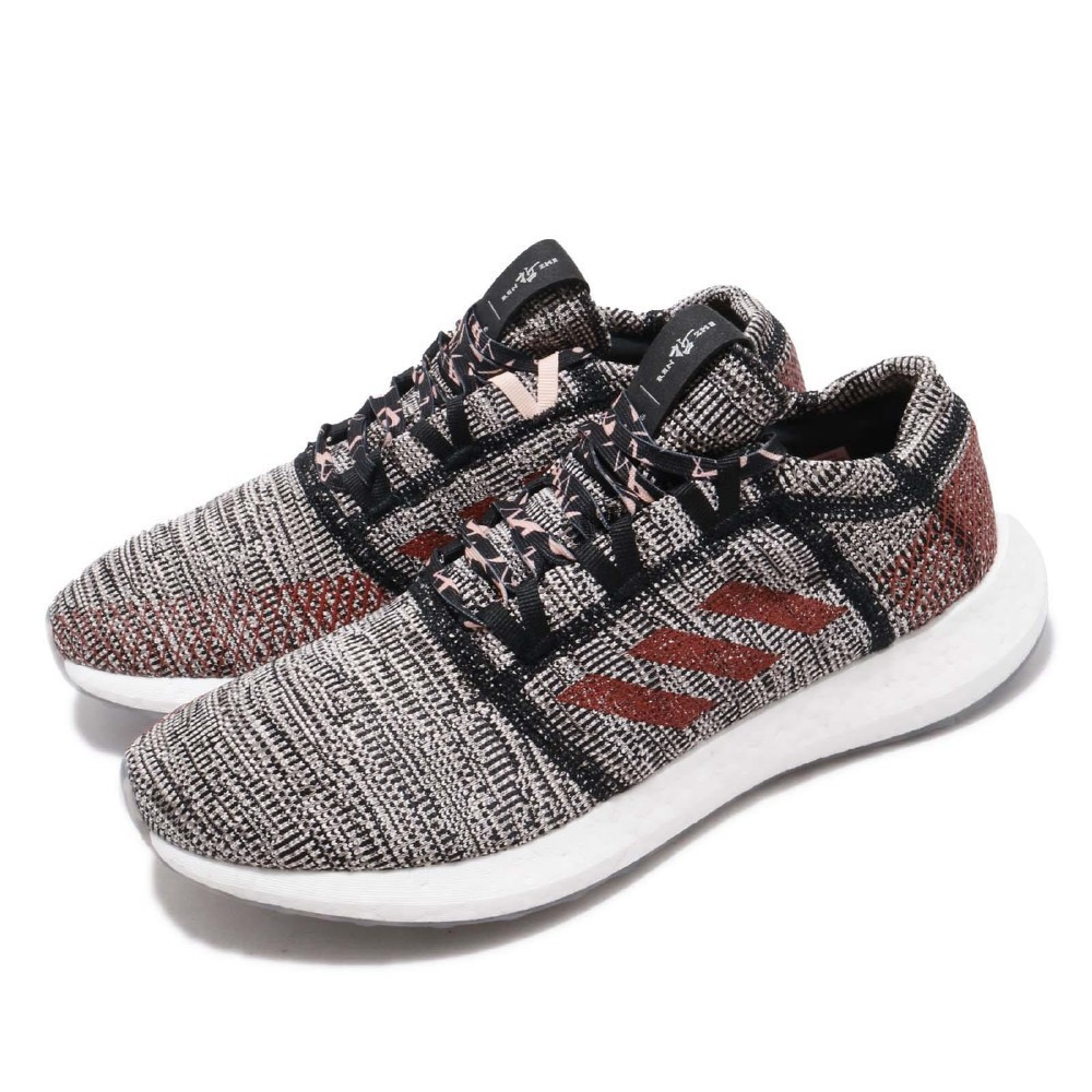 Adidas PureBOOST Go 黑色 紅色 迷彩 漸層 避震 健身房 慢跑 F36193
