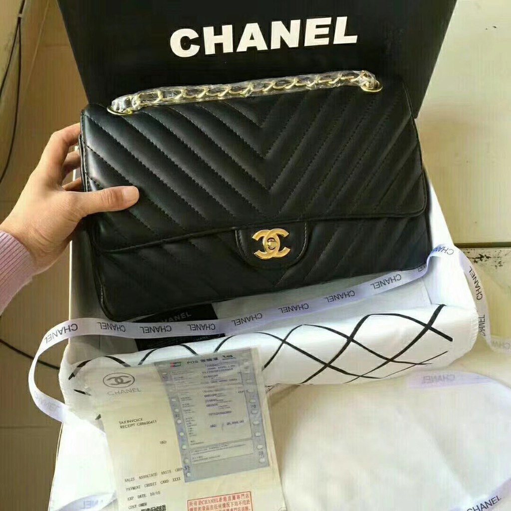 ea258ec1d97a Chanel 67086羊皮閃亮登場非常靚麗非常豪華的感覺! 潮流前線的主細節非常的到位皮質柔軟舒適| 蝦皮購物