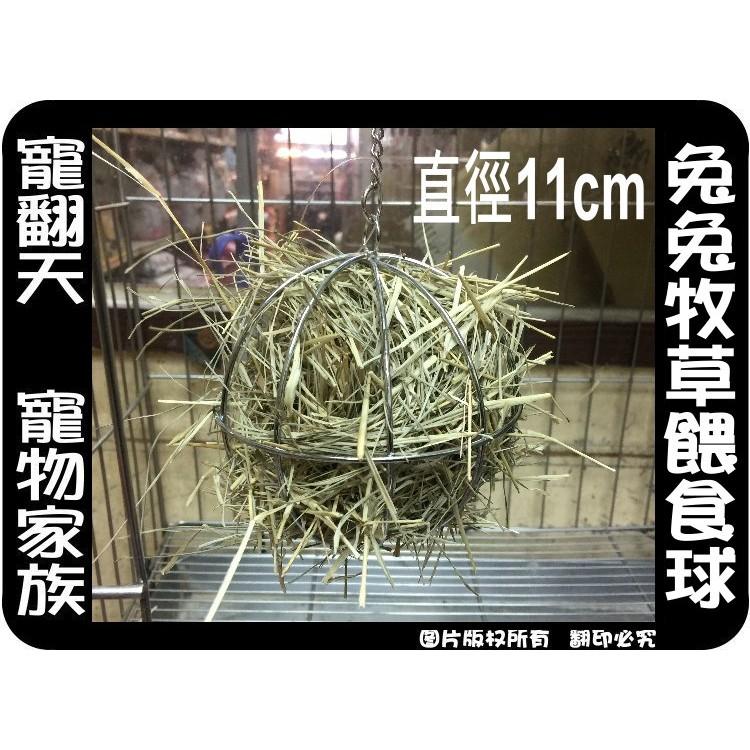 中和寵翻天寵物家族☆兔兔天竺鼠牧草餵食球 大