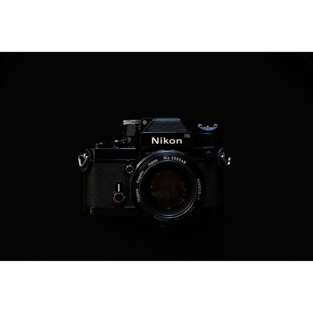 Nikon F2 黑機+55mm F1.2鏡頭組合