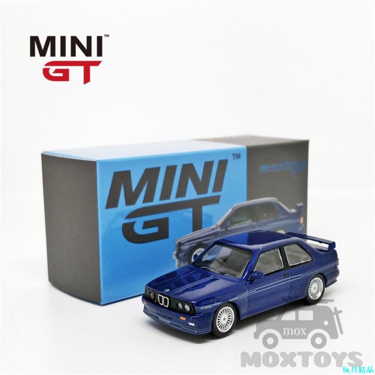 MINI GT 1:64 寶馬 M3 E30 Alpina B6 3.5S Alpina Blue 右鈦 汽車模型