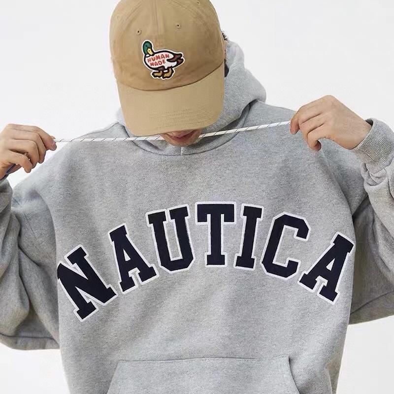 NAUTICA SWEAT LETTERED PARKA 帽t