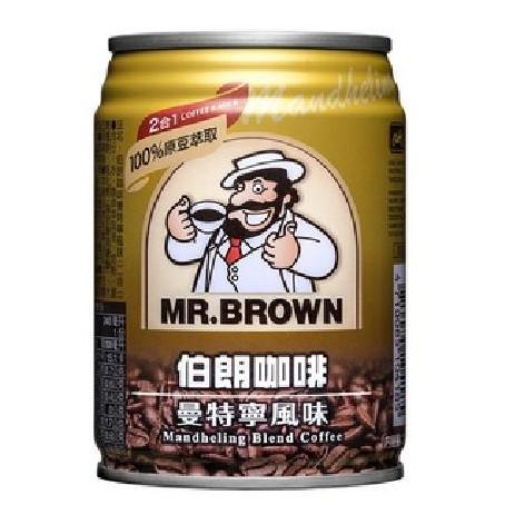 金車 伯朗曼特寧咖啡2合1(240mlx6罐/組)[大買家]