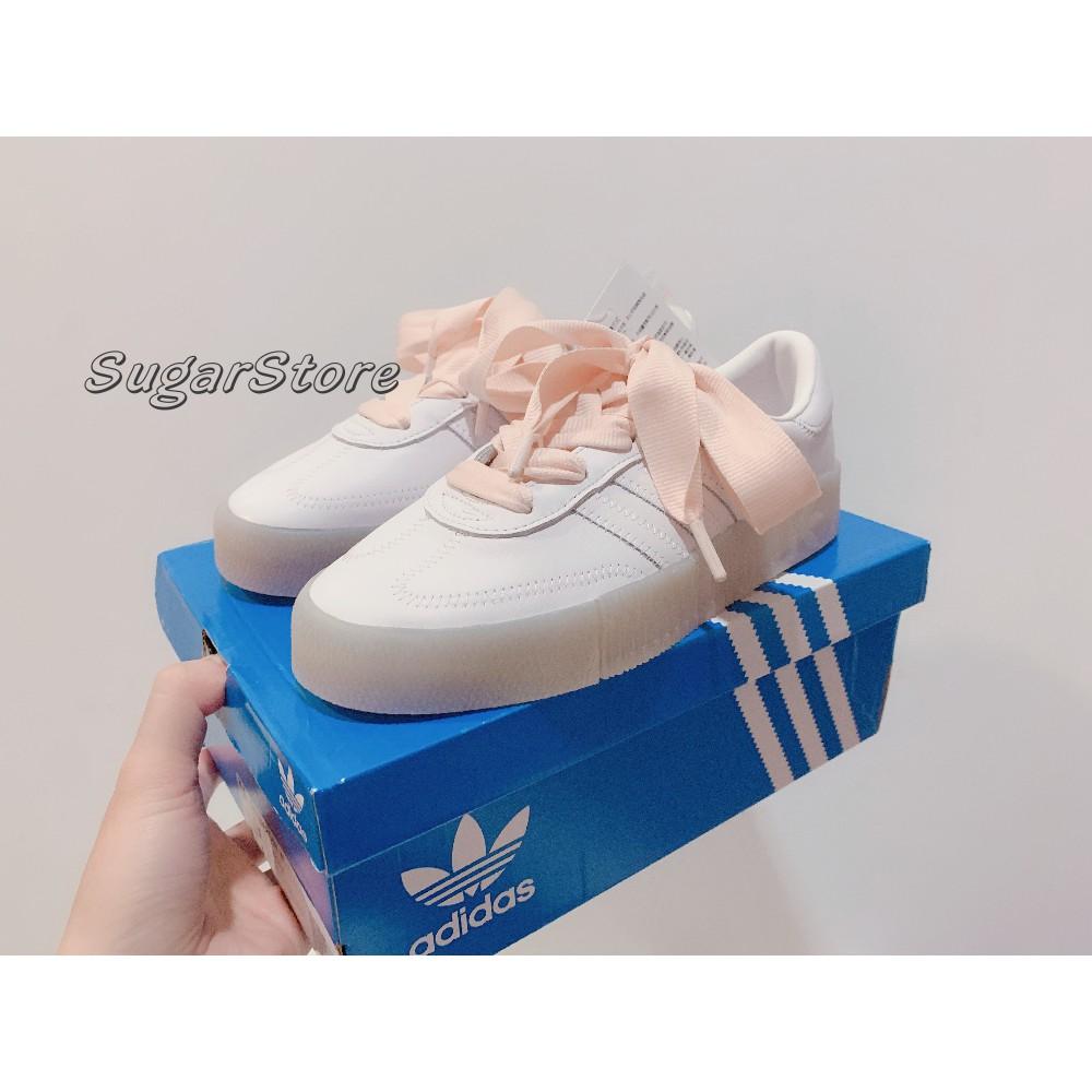 - 現貨販售 - Adidas Originals SambaRose 白粉 白色 果凍底 增高 厚底 FY3030