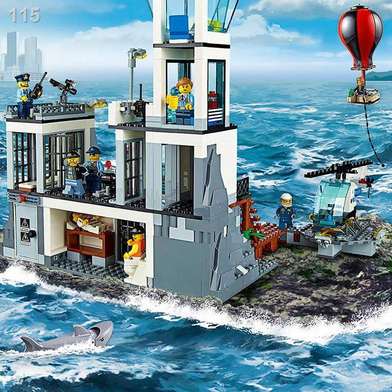 ✌✶❈樂高城市系列拼裝積木玩具海上監獄島飛機警系局警察局男孩子拼圖