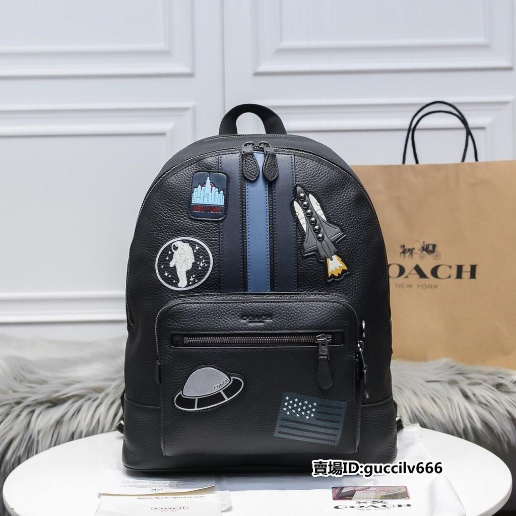 海外直郵 COACH 蔻馳背包 男生背包 宇宙太空款雙肩包 手提包 後背包 書包 休閒後背包 28313