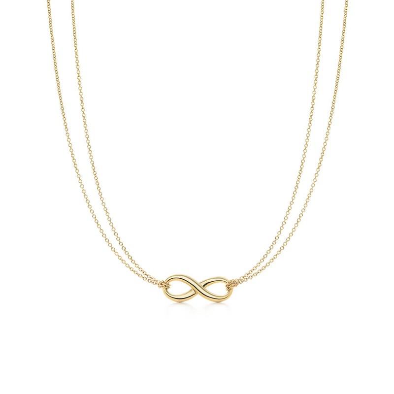 售Tiffany Infinity18K金無限項鍊(金色)