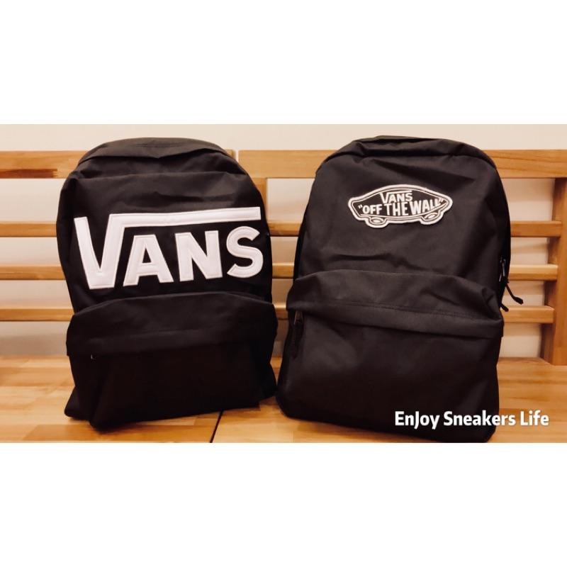-EJ- 現貨 Vans 後背包 vans old school 黑白 基本款 後背包