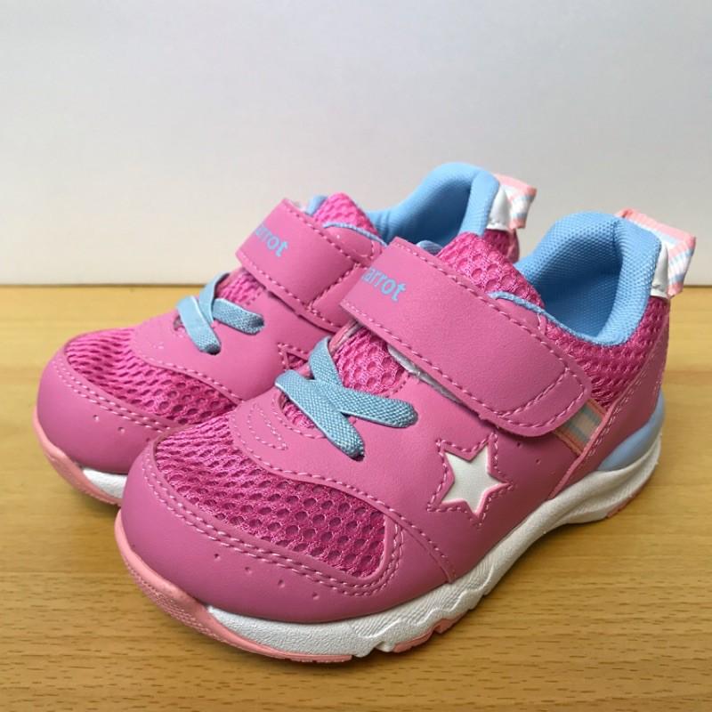 『四季鞋鋪』店長推薦2020年 日本月星 Moonstar 機能性運動鞋、定型鞋、矯正鞋 女童2E/桃粉色 15~19號