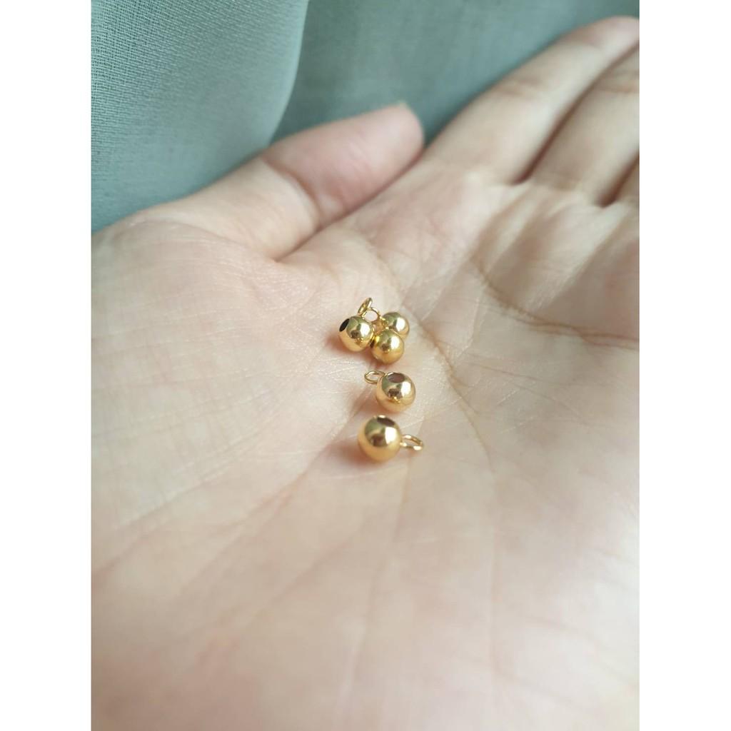 【Pure手作材料舖】美國14k包金帶環金珠 圓珠 調節珠 矽膠珠 移動 材料 注金 14kgf