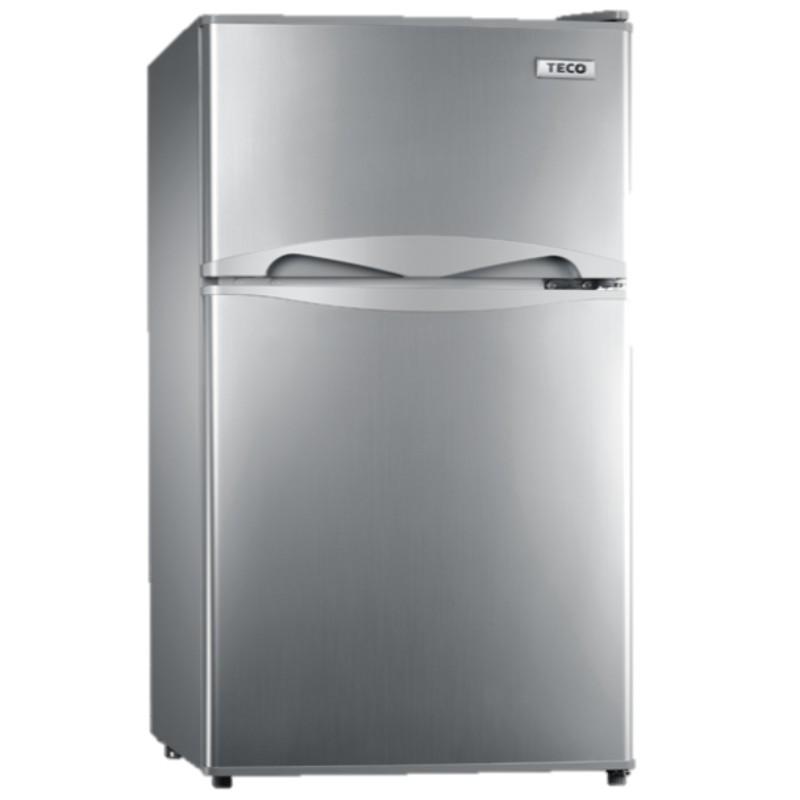 【來電詢價免運】 TECO 東元 100公升 定頻 雙門除霜溫控小冰箱 R1001N(晶鑽灰)/R1001W(珍珠白)