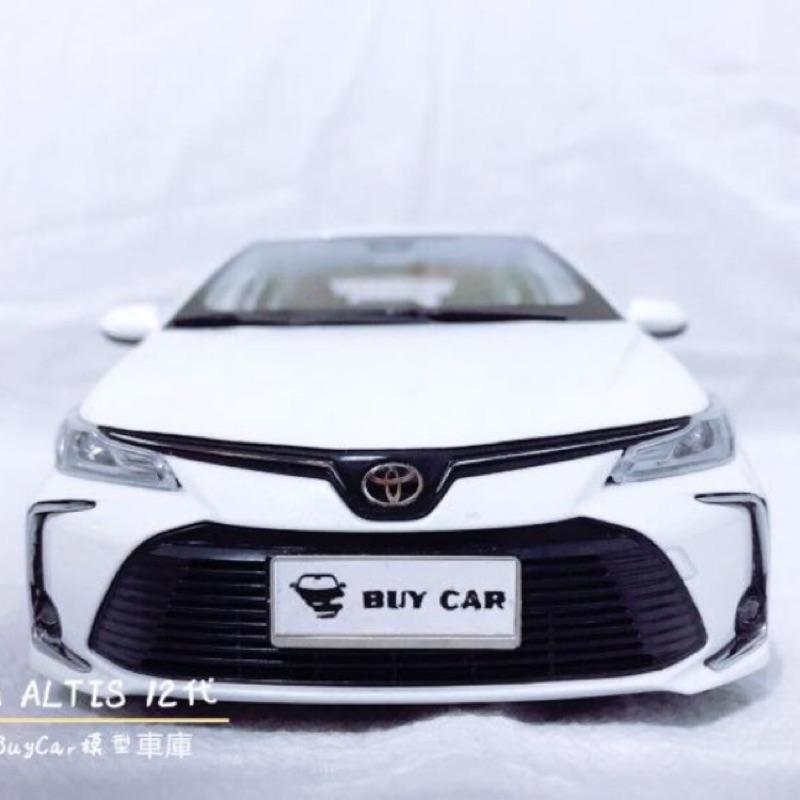 BuyCar模型車庫 1:18 Toyota Altis 12代模型車 購買贈送車牌一對