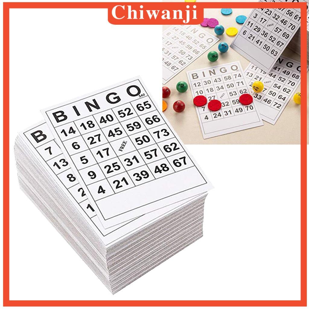 [CHIWANJI] 60張BINGO遊戲卡單張60張60面60張6 x 7英寸